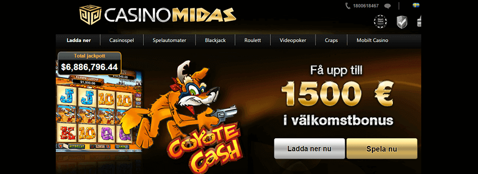 Nya Casinon Casino Midas