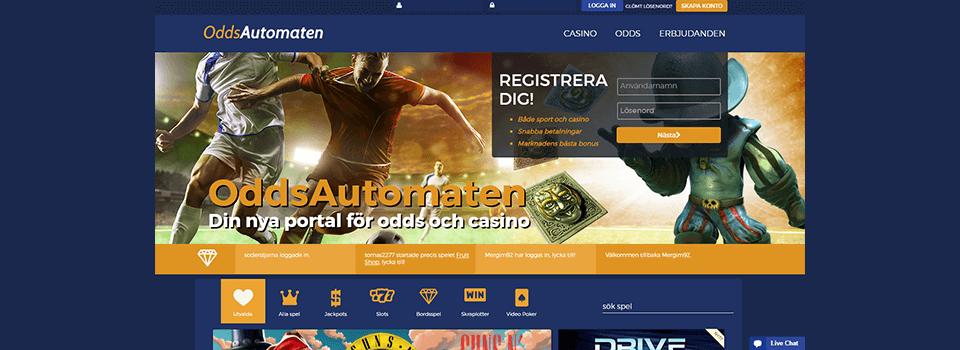 Nya casinon Oddsautomaten