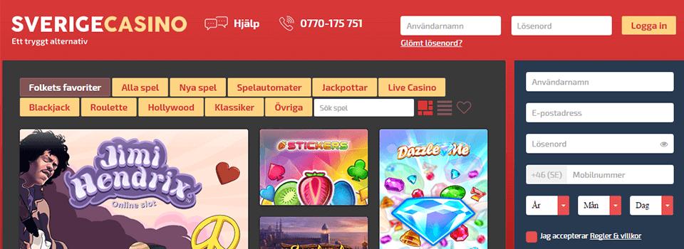 Nya casinon Sverigecasino