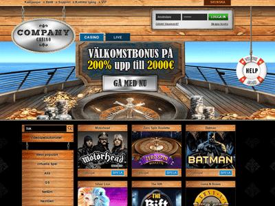 Company Casino nya casinon Sverige