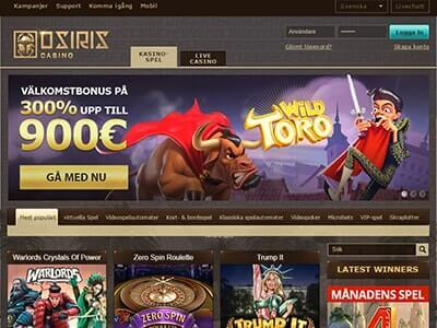 Osiris nya casinon