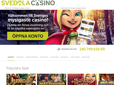 Svedala casino nya casinon top 3