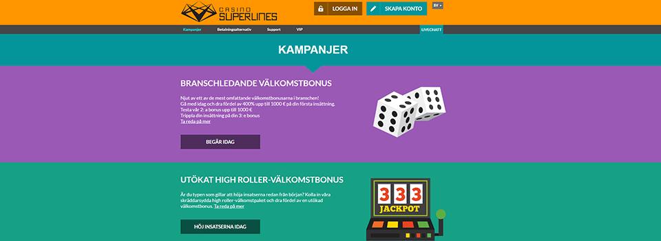 Casino Superlines freespins