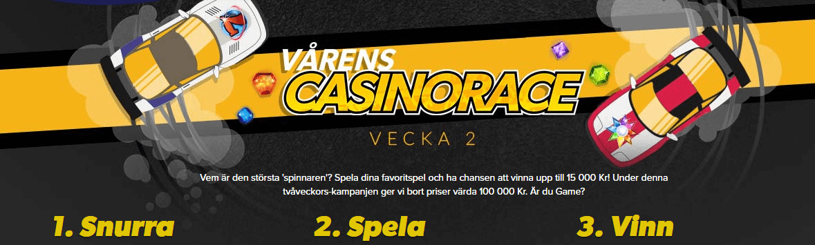 Igame vårens casinorace
