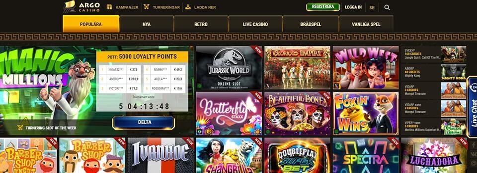 Argo casino freespins