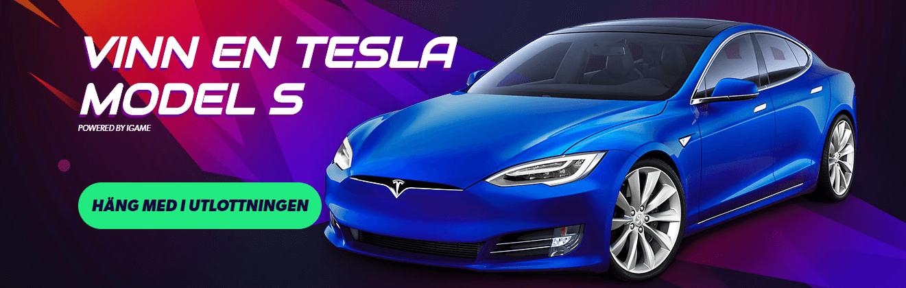 Vinn en Tesla bil hos igame