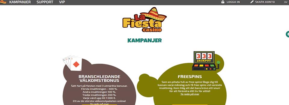 La Fiesta Casino freespins