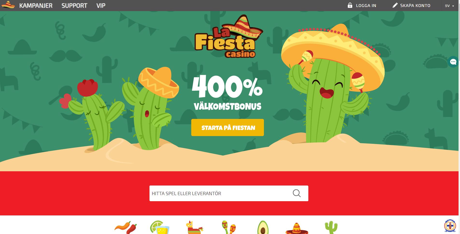 La Fiesta Casinots kampanjer