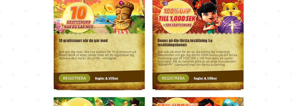 Bobcasino bonus