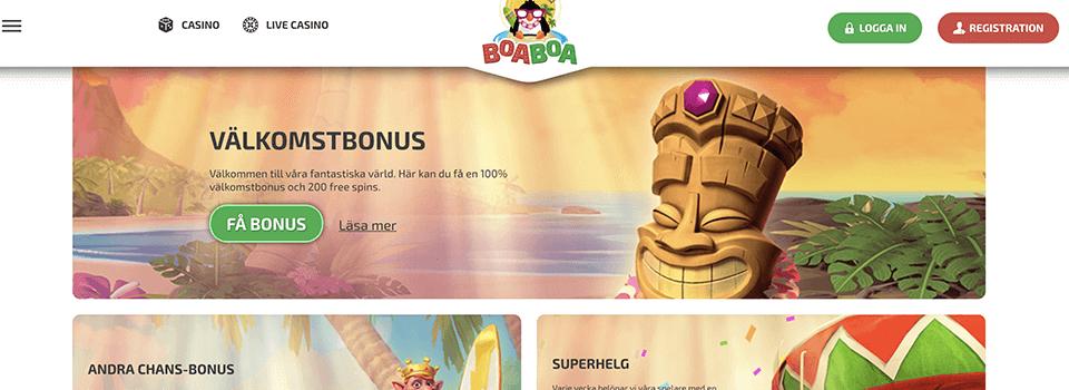 BoaBoa Casino freespins