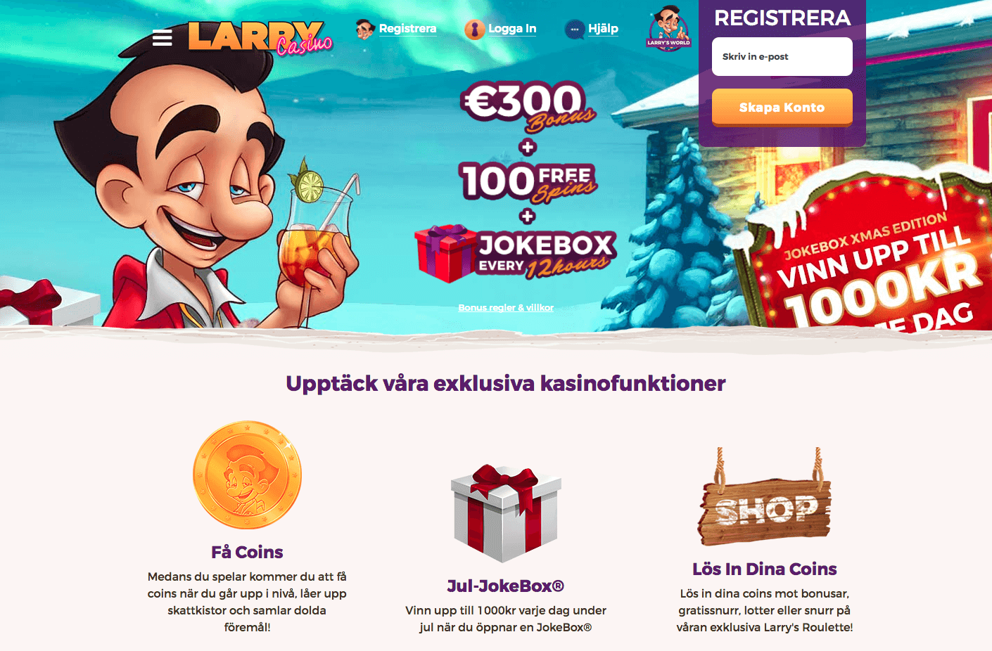Larry Casinots julkalender