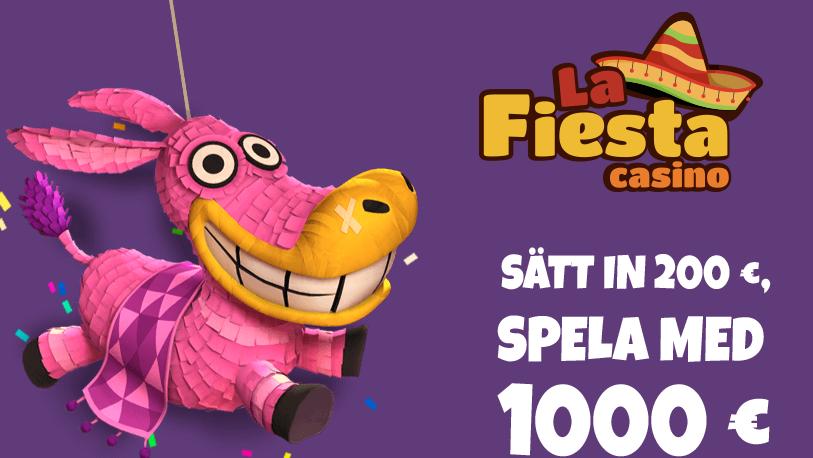 Ladda med 120% bonus i februari på Casino La Fiesta