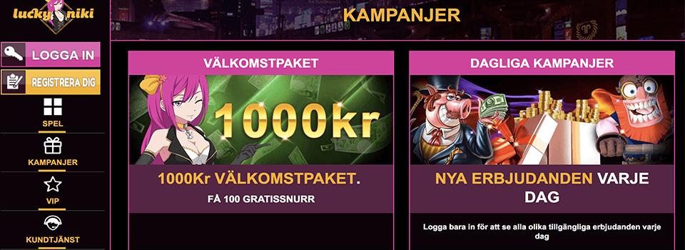 Lucky niki casino bonus