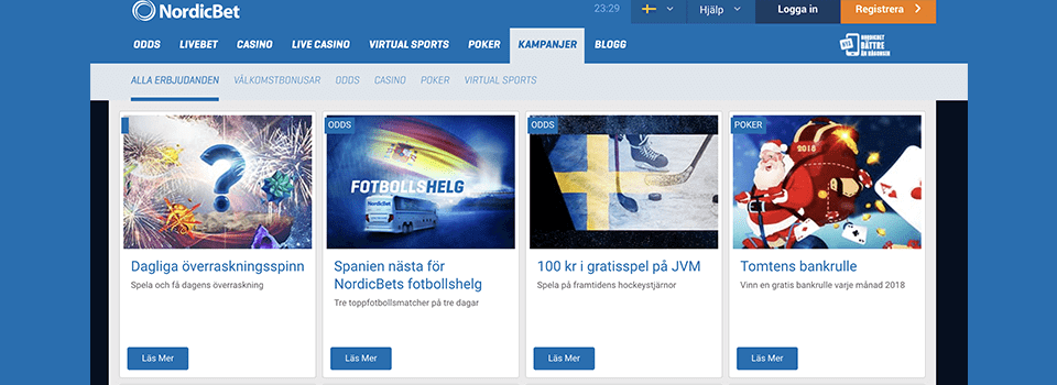 Nordicbet freespins