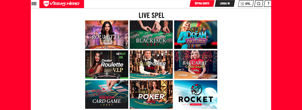Vegashero Casino bonus
