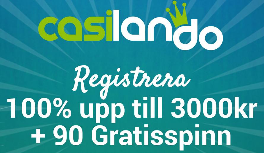 10 freespins vid registrering hos Casilando