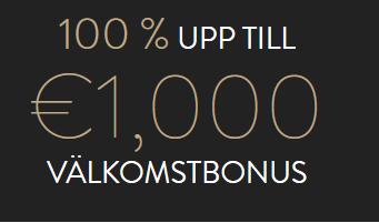 100% välkomstbonus 1000 € ovocasino