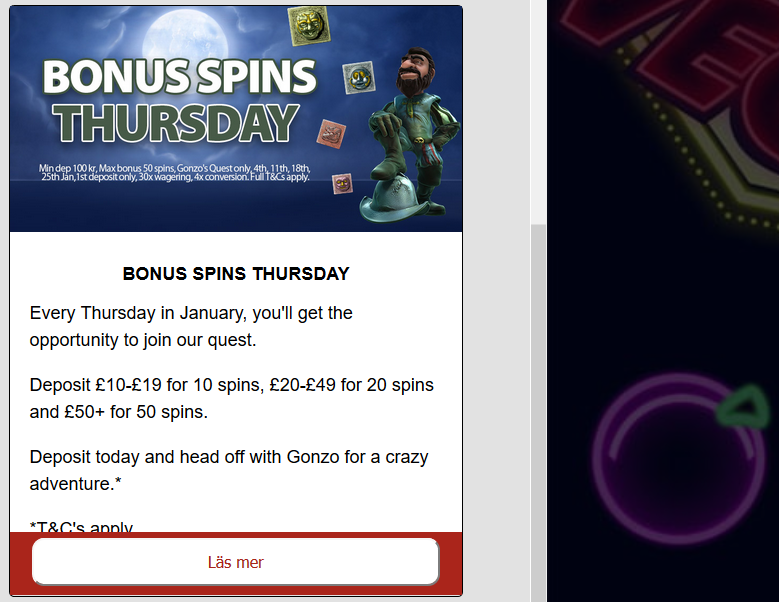 Reelvegas Bonus Spins Thursday