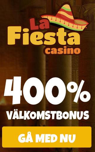 La Fiesta Casino 120% upp till 1200 € månatalig startbonus