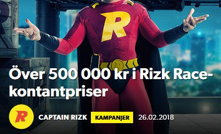 Rizk Race 500 000 kr i kontantpriser