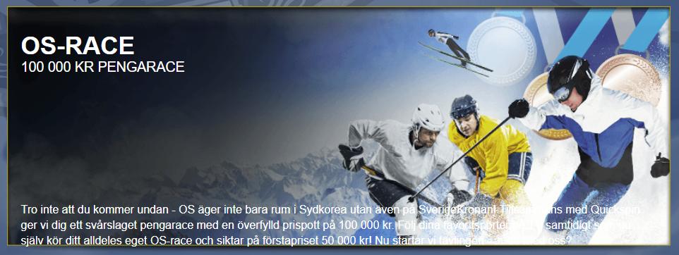 Sverigekronan OS-RACE 100 000 kronor
