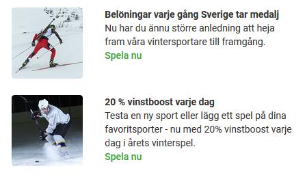 Vinterspelen 2018 Unibet Sista veckan!