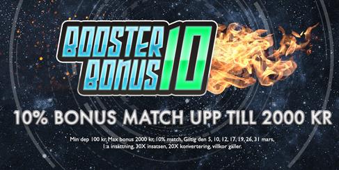 FikaCasino 10% bonus match upp till 2000 kr