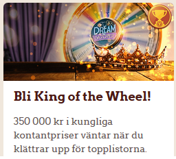 LeoVegas King of the Wheel 350 000 kr