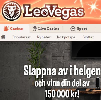 LeoVegas Superhelger 100 000 kr spelpott