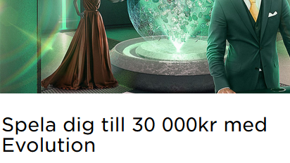 MrGreen 30 000 kronor med Evolution