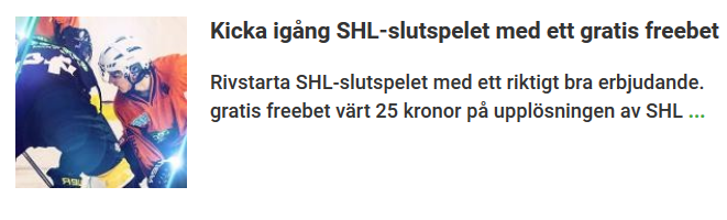Unibet Freebet SHL-Slutspelet