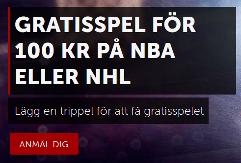 Betsafe Gratisspel för 100 kr på NBA eller NHL