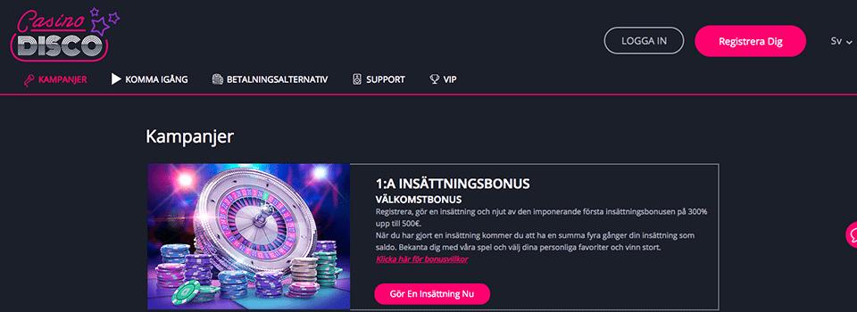 Casinodisco bonus