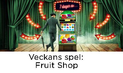 MrGreen 175 freespins Veckans Spel Fruit Shop