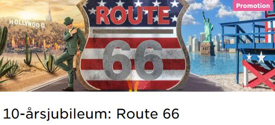 MrGreen nätcasino 10-årsjubileum: Route 66