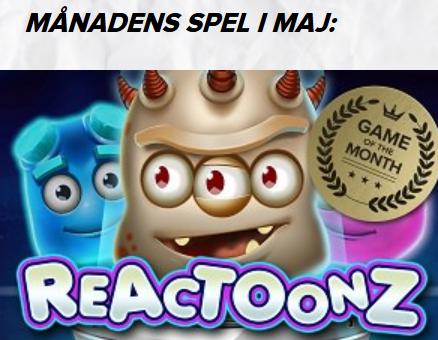 SuperLenny Månadens Spel Reactoonz 20 000 kr