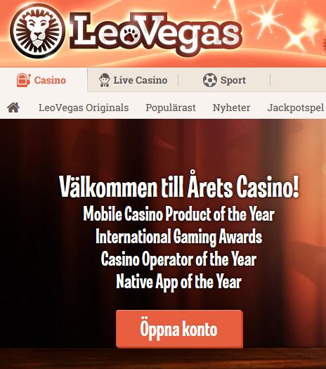 LeoVegas nätcasino 1,3 miljoner i Hugo-potten!
