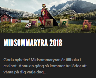 Rizk Midsommaryra 2018 Nätcasino
