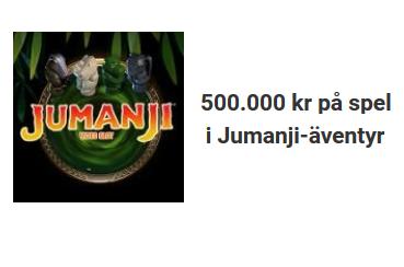 Unibet nätcasino Jumanji-äventyr med 500.000 kr på spel