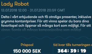 Nätcasino Frank Casino Lady Robot 150 000 prispool