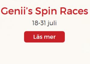 Nätcasino Lucky31 Genii's Spin Races 1000 € i kontanter och freespins!