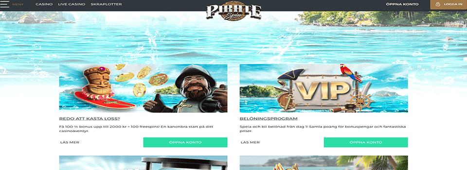 PirateSpin freespins