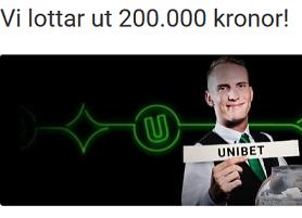 Nätcasino Unibet 200 000 kr lottas ut i vårt Live Casino bara denna vecka!