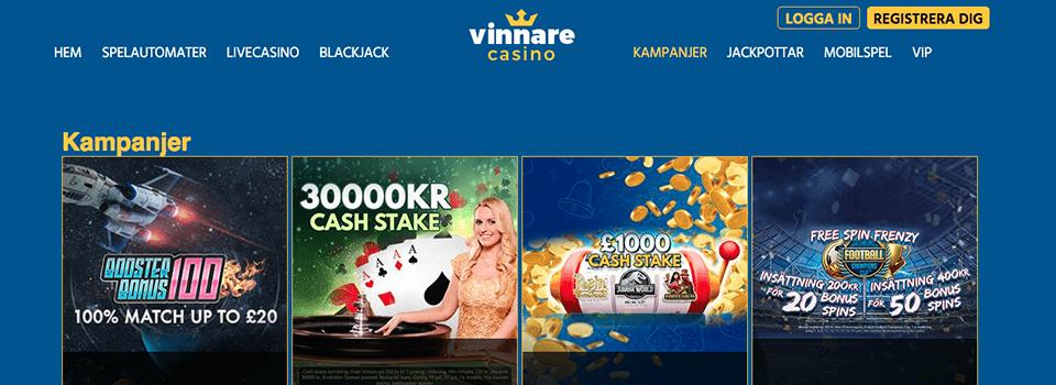 Vinnare Casino freespins