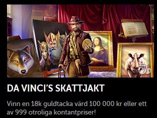 Nätcasino Betsafe - Da Vinci's skattjakt - En guldtacka i 18k guld och en massiv prispott!