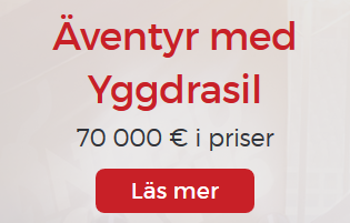 Nätcasino Lucky31 Äventyr med Yggdrasil. Vinn din andel av 20 000 €!