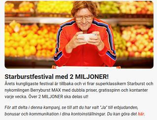 Nätcasino LeoVegas - Starburstfestival med 2 MILJONER!