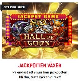 Nätcasino Redbet - Jackpotten 3 € miljoner - På endast ett snurr kan jackpotten bli din, testa lyckan direkt!
