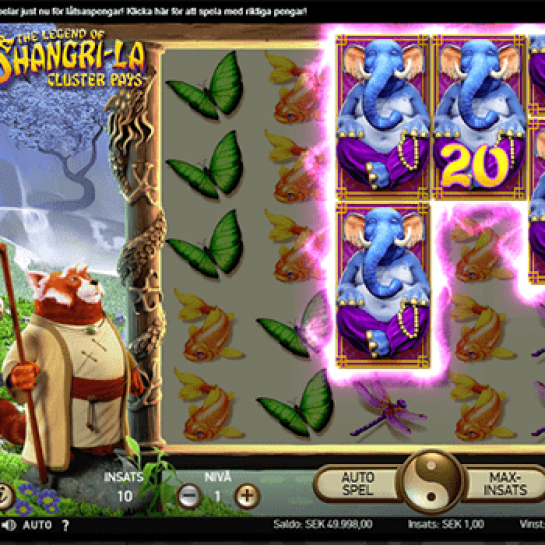 The Legend Of Shangri-La: Cluster Pays slot