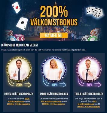 Nätcasino Dream Vegas - Vinn en bil eller 350 000 kr kontant!